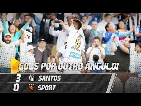 Santos 3 x 0 Sport | GOLS POR OUTRO ÂNGULO | Brasileirão (18/08/18)
