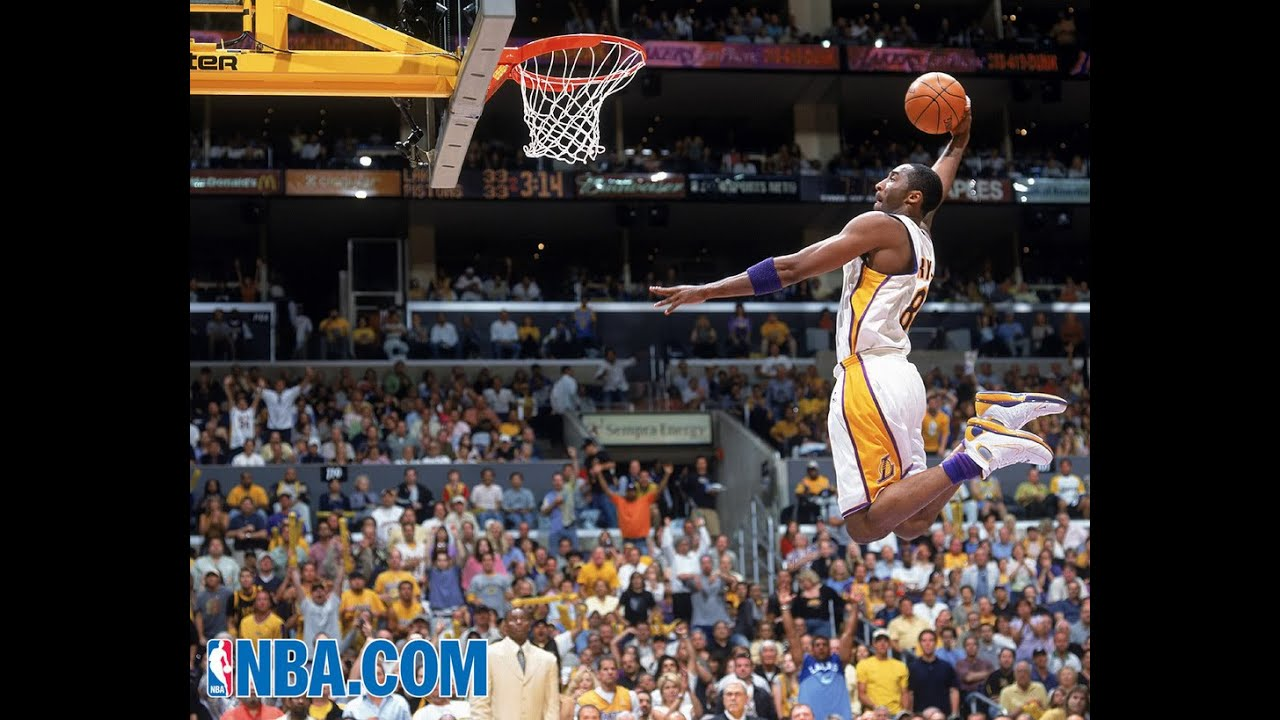 b8fe7c69ef0c Kobe Bryant Behind the Back Reverse Dunk Over Vincent Yarborough ...