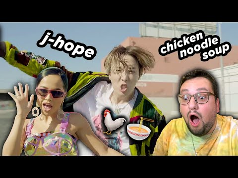 J-hope ЗАЛЕЗ к Becky G ПРЯМО ТУДА?! 🤯 'Chicken Noodle Soup' MV РЕАКЦИЯ!