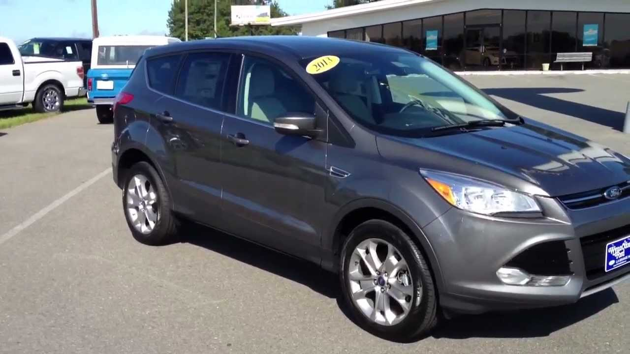 2013 Ford Escape Sel Sterling Gray Youtube