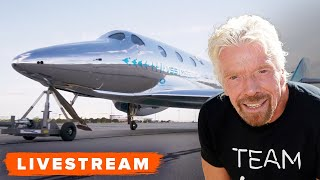 WATCH: Virgin Galactic Launch with Richard Branson Onboard! - Live