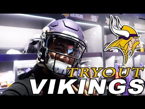 TRYING OUT FOR THE MINNESOTA VIKINGS!