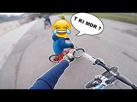 UN ENFANT ME MET UN VENT 😂💨 - VTT URBAIN