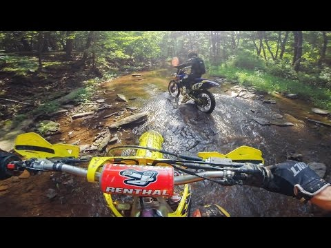 Motocross Bikes in the Creek