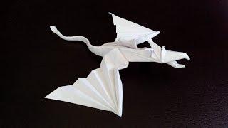 Дракон летящий оригами, Flying dragon origami (Marc Vigo)