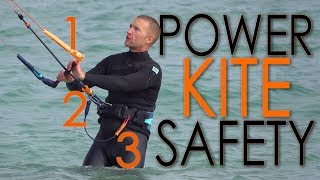 Safety Systems (kiteboard / power kite tutorial)