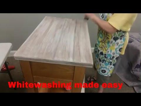 Whitewashing Wood Furniture -#painted Furniture #whitewashing #whitewashingfurniture #diywhitewash