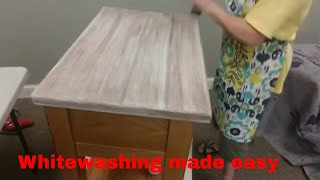 Whitewashing Wood Furniture - Let's White Wash
