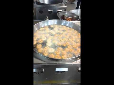 Uard Dal Vada Deep Frying in Commercial Induction Kadai