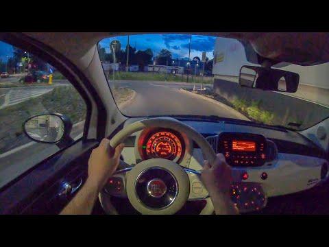 Fiat 500 Night | 4K POV Test Drive #259 Joe Black