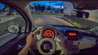 Fiat 500 Night | 4K POV Test Drive #259 Joe Black