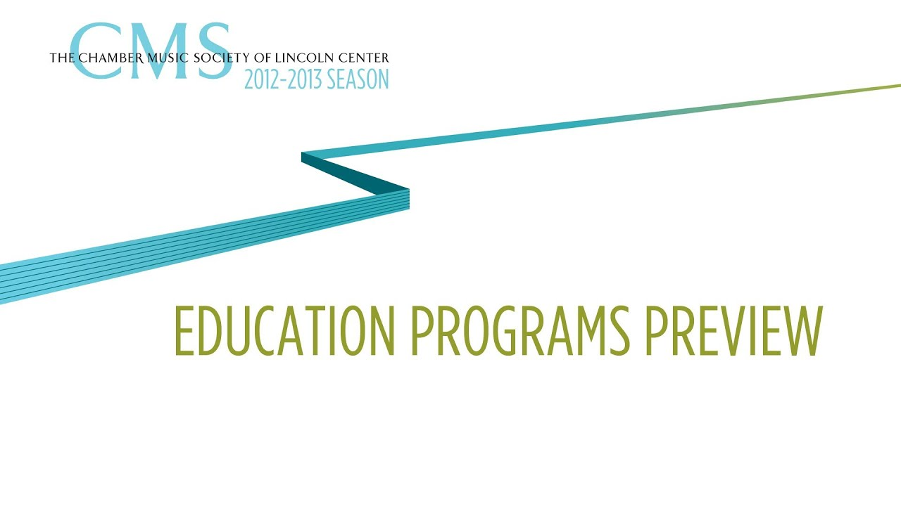Education Programs - 2012-2013 CMS Season