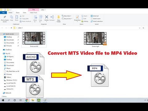 How to Convert AVCHD MTS to MP4 Video in Windows 10 (No Software)