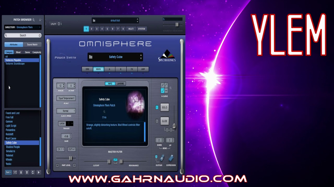 OMNISPHERE YLEM by Gahrn Audio - Patch Walkthrough