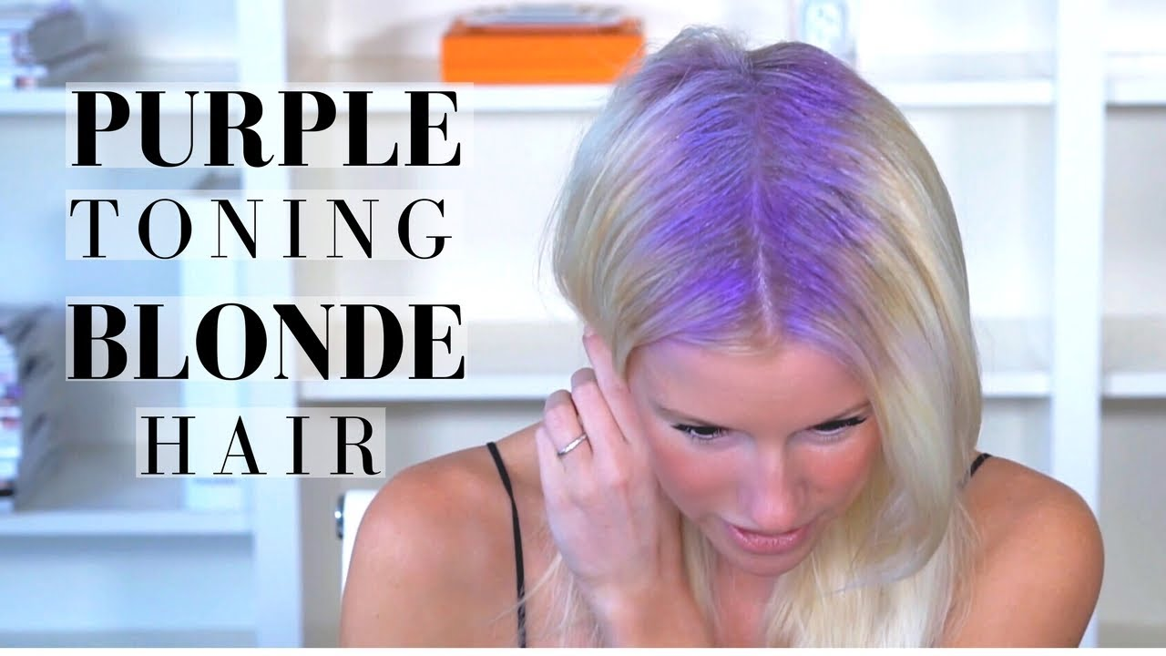 Purple Toning Treatment On Blonde Hair Brightening Shampoo Routine
