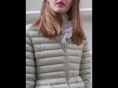 Пуховик женский укороченный еврозима. Куртка демисезонная приталенная на утином пуху