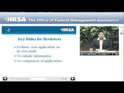 HRSA Competitive Application Review Process