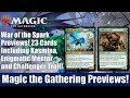 MTG War of the Spark Previews: 23 Cards Including Kasmina, Enigmatic Mentor and Challenger Troll.