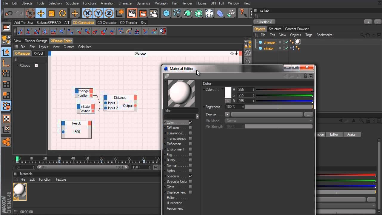cinema 4d tutorial xpresso distance node youtube. Black Bedroom Furniture Sets. Home Design Ideas