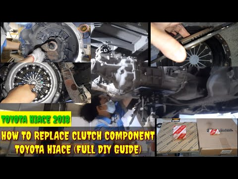 #clutchcomponent #toyota #hiace2018 How to Replace clutch Component/Toyota hiace (Full DIY Guide)