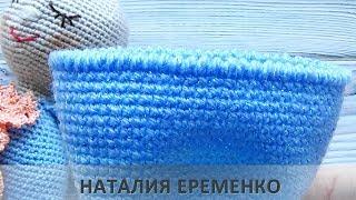 Как вязать рачий шаг по кругу // мастер-класс toyfabric