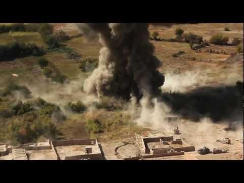 USMC Assault Breacher Vehicle in action - Afghanistan