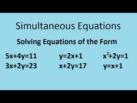Simultaneous equations - the complete maths guide - YouTube