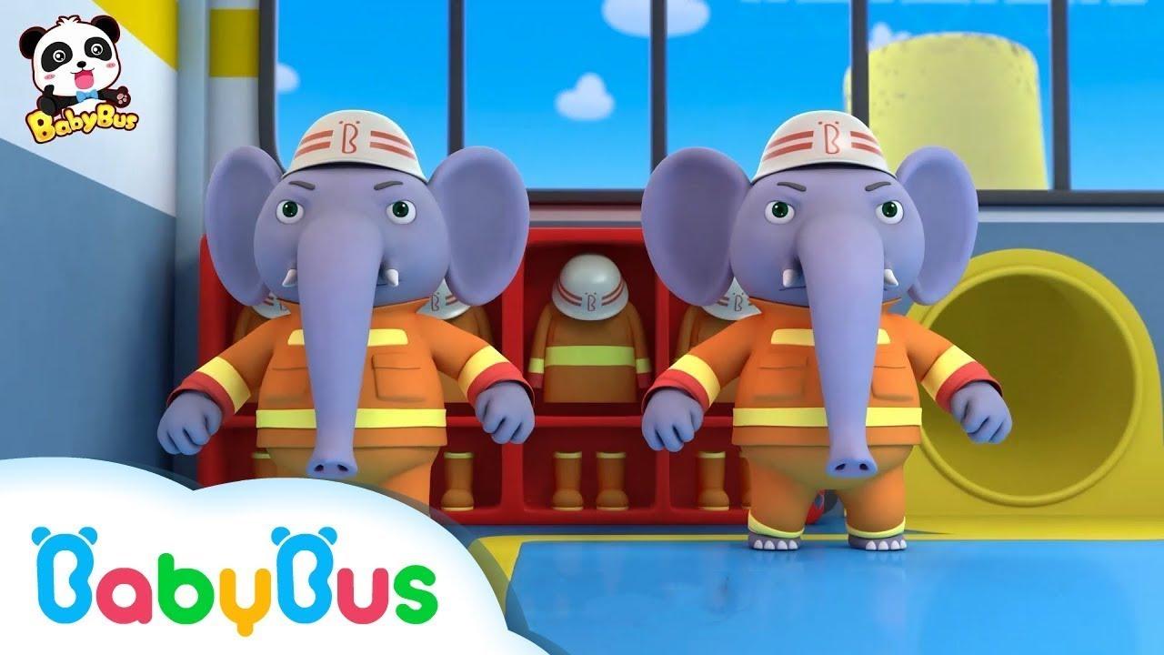คุณช้างหน่วยกู้ภัยดับเพลิง | ไฟไหม้แล้วช่วยด้วย | เพลงเด็ก | เบบี้บัส | Kids Song | BabyBus