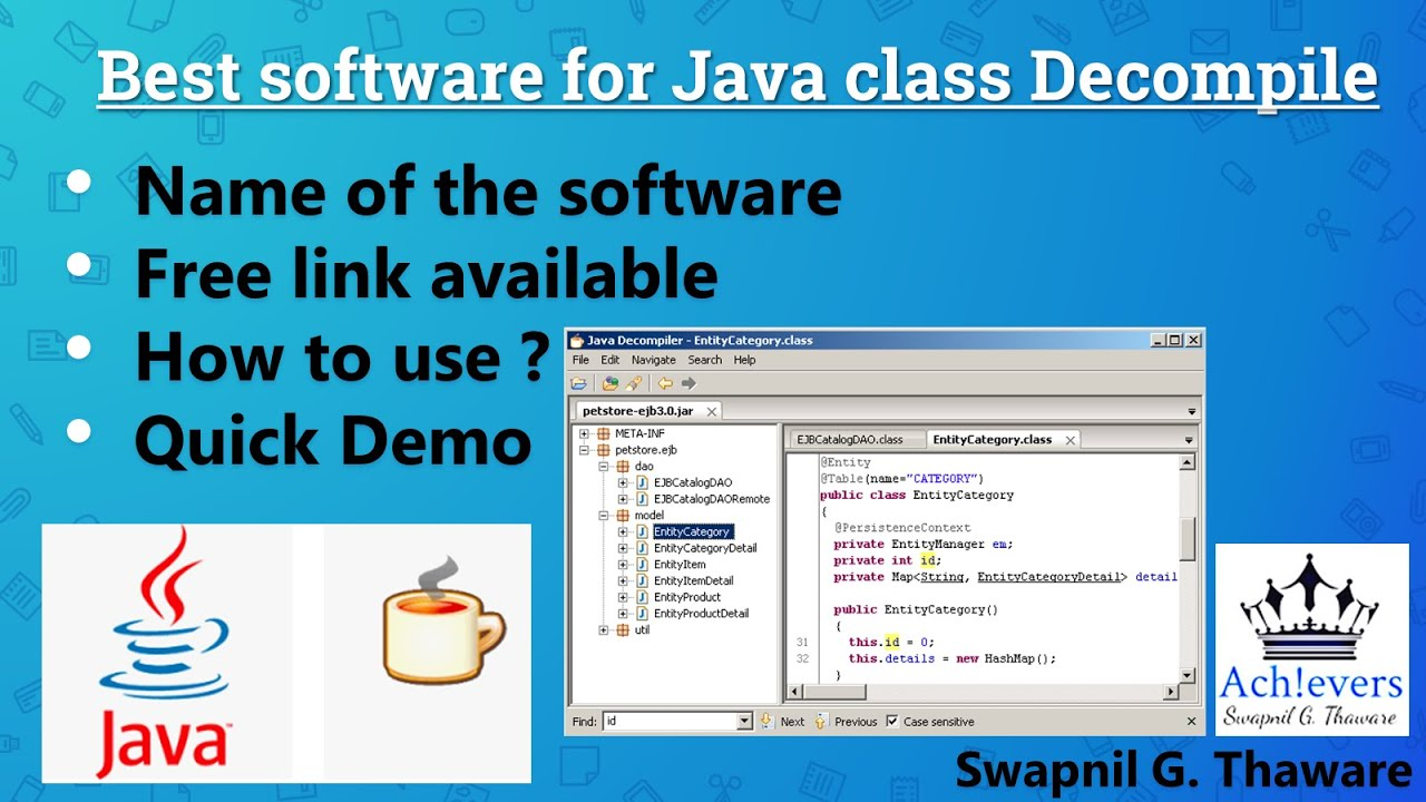 Java decompiler Demo || Software for Converting  class to