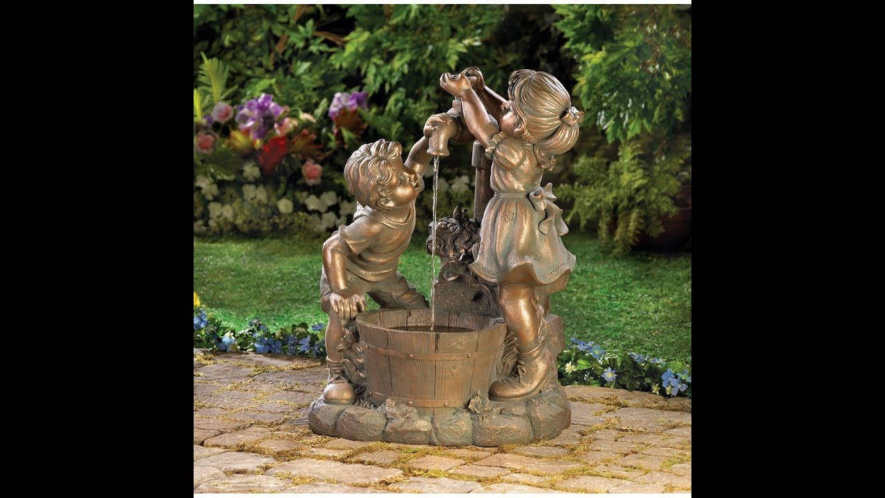 Garden ideas small garden fountains ideas youtube for Garden pond waterfalls for sale