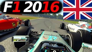 F1 2016 Saison Mod Sebastian Vettel Lets Play #9 – Großbritannien GP German Gameplay [Fanatec CSW]