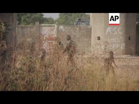 Senegalese forces on Gambian border
