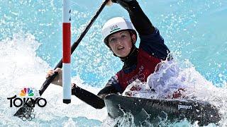 17-year-old American Evy Leibfarth reaches canoe slalom semis | Tokyo Olympics | NBC Sports