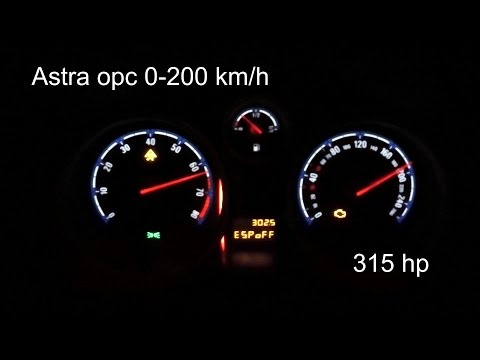 Opel Astra OPC 0 200km/h