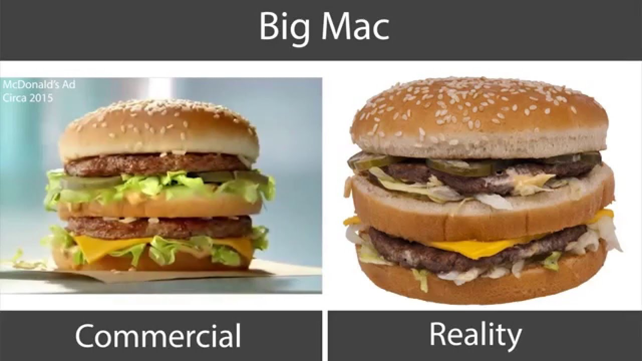 Fast Food Ads Vs Reality Youtube