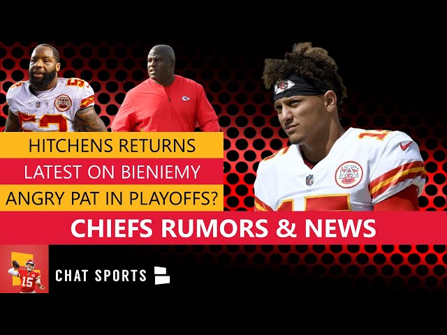 Chiefs Rumors\: Patrick Mahomes Playing Angry In Playoffs? Latest On Eric Bieniemy & Anthony Hitchens