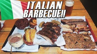Massive Italian BBQ Man vs Food Challenge in Rome, Italy!!