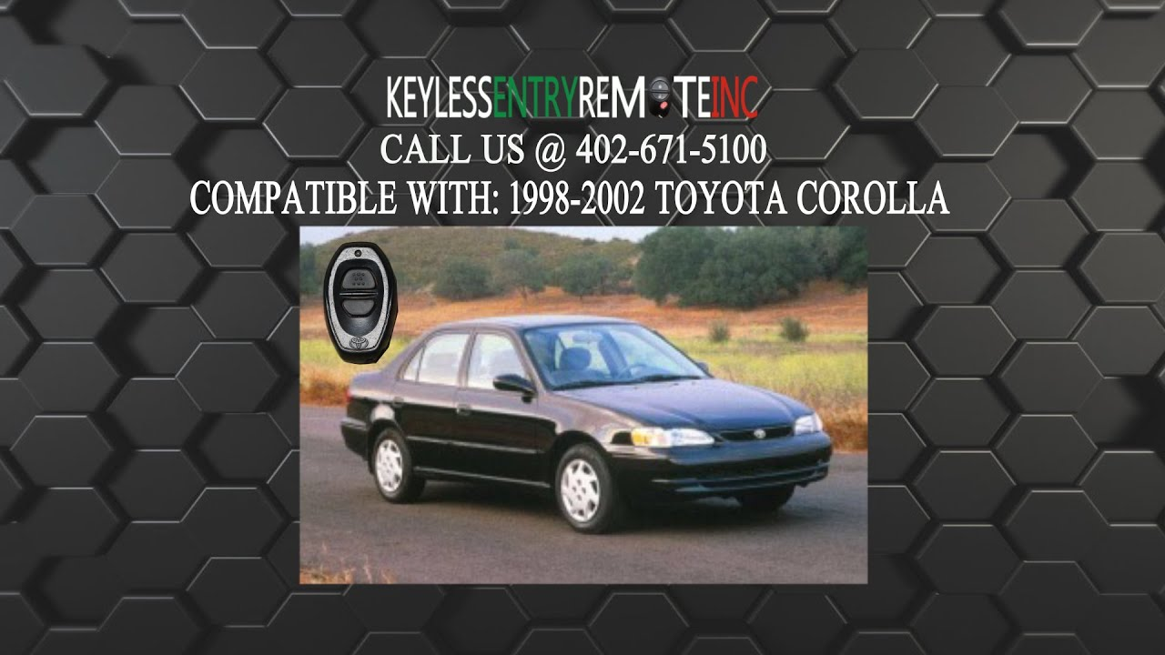 How To Replace A Toyota Corolla Key Fob Battery 1998 2006