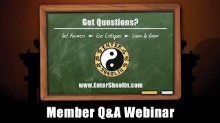 Learn Kung Fu Online | Enter Shaolin Member Q & A Webinar 4/28/17