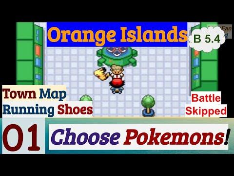 Pokemon Orange Islands Part 1 PokeFan Choose Pokemons (Running Shoes & Town Map)   GBA Rom Hack