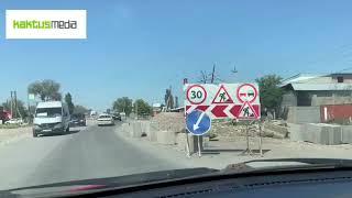 Ремонт трассы Бишкек-Кара-Балта