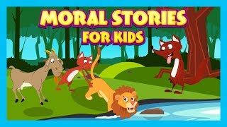 Moral Stories For Kids - The Jackal Who Saved The Lion, The Dog With Bone & The Fox and The Goat