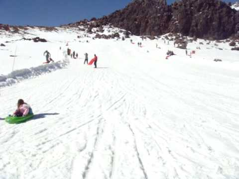 Sledge ride at mount ruapehu