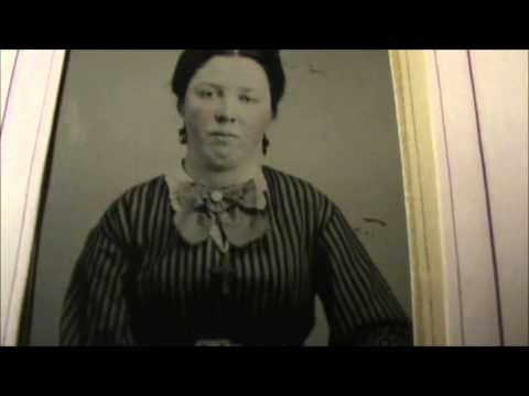 Tintype photo album with many tintypes 19 in all plus 17 other antique photos