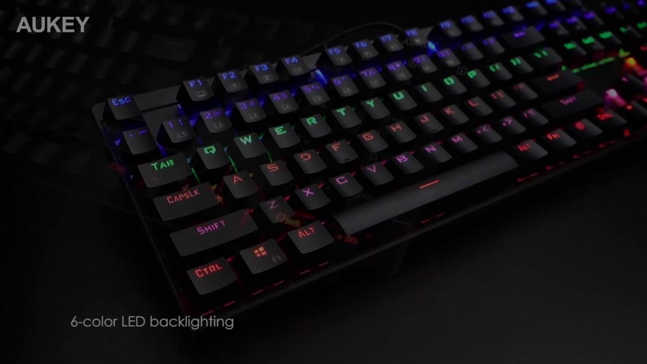 104-Key LED-Backlit Mechanical Keyboard | AUKEY