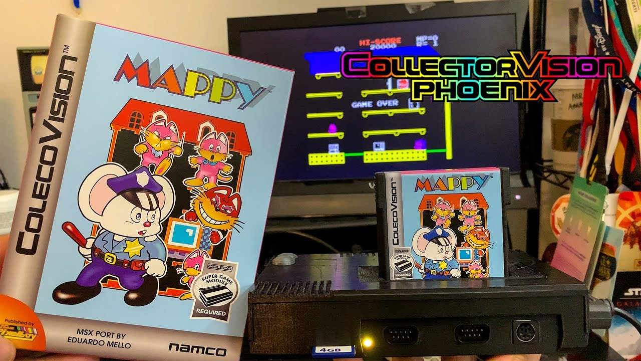 Playing ColecoVision Mappy on CollectorVision Phoenix Console!