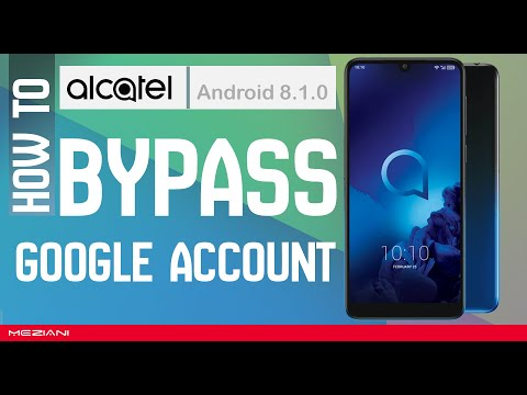 Remove, Bypass Google Account  FRP All ALCATEL 2019 Android 8.1.0 Without Computer (New Method)