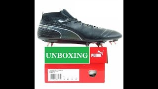 18d36e7a85 UNBOXING PUMA ONE 17.1 SG K-LEATHER 104058 03 BLACK FOOTBALL BOOTS