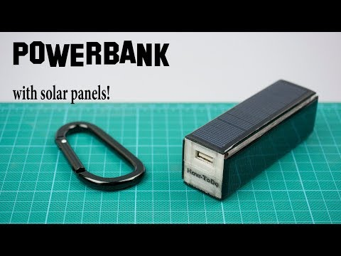Simple power bank with solar panels