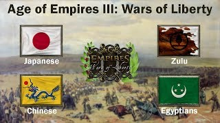 Age of Empires III: Wars of Liberty - Online game | Japanese-Chinese Vs Zulu-Egyptians